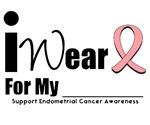 I Wear Peach Ribbon Endometrial Cancer T-Shirts