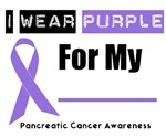 I Wear Purple Ribbon Pancreatic Cancer Shirts