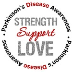 Parkinson's Disease Strength Support Love Shirts