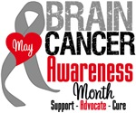 Brain Cancer Awareness Month Tees & Shirts