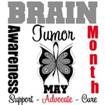 Brain Tumor Awareness Month Butterfly Shirts