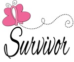 Breast Cancer Survivor Butterfly Tees & Gifts