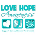 Love Hope Awareness Cervical Cancer Gifts