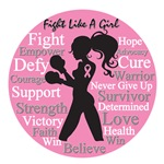 Breast Cancer Stylish Fight Like A Girl Shirts