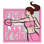 Breast Cancer Fight Like A Girl Boxer Shirts