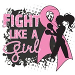 Breast Cancer Grunge Fight Like A Girl Shirts