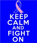 Male Breast Cancer Keep Calm Fight On Shirts