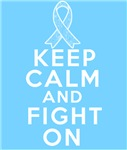 Prostate Cancer Keep Calm Fight On Shirts