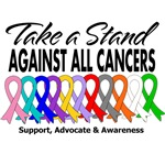 Take A Stand Against All Cancers Shirts