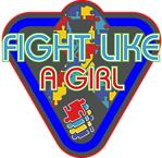 Autism Fight Like A Girl Glove Shirts