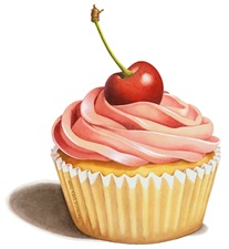 EVERYTHING Pink Cupcake with Cherry