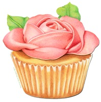 EVERYTHING Pink Rose Cupcake