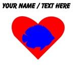 Custom BlueTropical Fish Heart