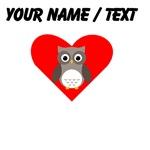 Cartoon Owl Heart