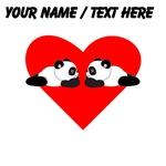 Custom Cute Pandas Heart