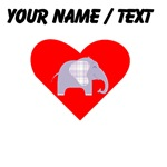 Custom Purple Plaid Elephant Heart