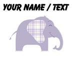 Custom Purple Plaid Elephant