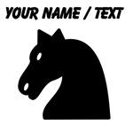Custom Black Horse Head