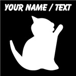 Custom Kitten Silhouette