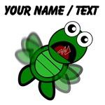 Custom Cartoon Turtle Falling