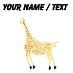 Custom Rock Art Giraffe