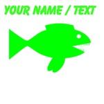 Custom Neon Cartoon Fish
