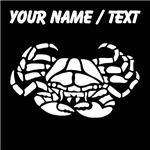Custom Crab Silhouette