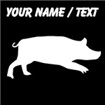 Custom Pig Silhouette