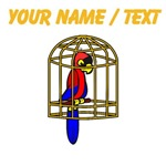 Custom Parrot In Cage