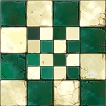 Cracked Tiles - Green