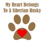 My Heart Belongs To A Siberian Husky