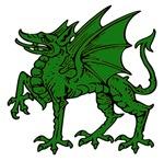 Green Dragon Statue