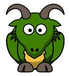 Funny Green Dragon Cartoon