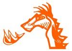 Orange Dragon Blowing Fire