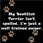 Well Trained Scottish Terrier Owner