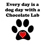Chocolate Lab Dog Day