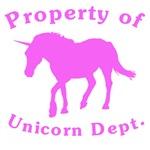 Pink Property Of Unicorn Dept