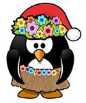 Hawaiian Christmas Penguin