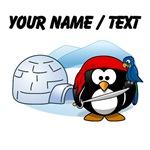 Custom Pirate Penguin In Antarctica