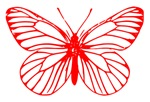 Red Butterfly Drawing