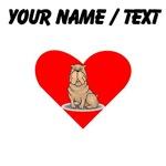 Custom Shar Pei Heart
