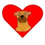 Boxer Face Heart