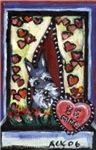 Schnauzer hearts Valentine