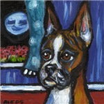 Boxer portrait w moon 2