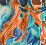 Abstract Aqua and Orange