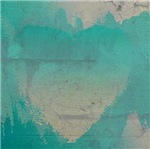 Aqua Heart Abstract