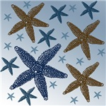 Gold and Blue Starfish