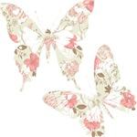 Pink Floral Butterflies
