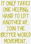 One Helping Hand Better World Movement Design