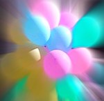 Balloon Frenzy, Photo / Digital Painting